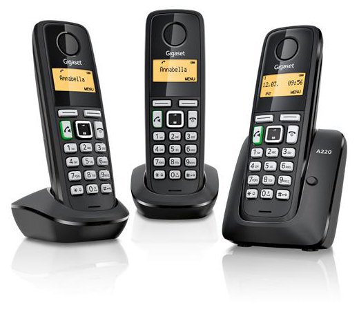 Siemens Gigaset A220a Trio Cordless Analog Phone With 3