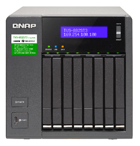 QNAP TVS-882ST3-i7-16G 8 Bay Diskless NAS Quad-core i7-6700HQ CPU