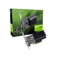 EVGA GeForce GT1030 Graphics Card, 2GB GDDR4, PCIE, Low Profile, Passive Cooling, DVI-D, HDMI, Max 2 Ouputs