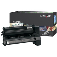 Lexmark 15G042K BLACK (PREBATE) TONER YIELD 15,000 PAGES FOR C752, 760, 762
