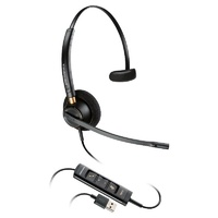 Poly EncorePro HW545 Convertible Monaural USB PC Headset w/Inline Control