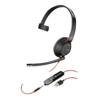 Plantronic Blackwire C5210 Monaural USB Headset w/ 3.5mm
