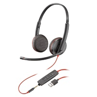Plantronics Blackwire C3225 Stereo UC USB-A Headset w/ 3.5mm