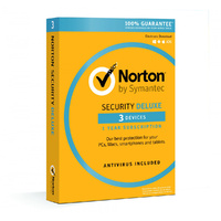 Norton Security Deluxe 2020, 3 Device, 12 Months, PC, MAC, Android, iOS - License Key