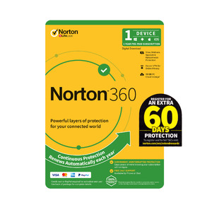 Norton 360  1 Device -1 Year PC, MAC, Android, iOS -2021 Edition  License key