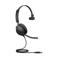 Jabra Evolve2 40 UC Mono USB Headset - Black