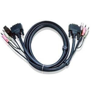 ATEN 2L-7D03U USB DVI-D Single Link KVM Cable with Audio - 3.0m