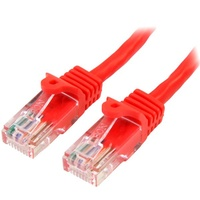 StarTech 5m Red Cat5e Ethernet Patch Cable - Snagless