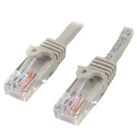 StarTech 7m Gray Cat5e Ethernet Patch Cable - Snagless