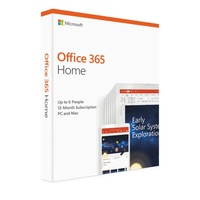 Microsoft Office 365 Home 1 Year Subscription Medialess up to 6 Users - 6GQ-00929 2019 version for PC and Mac