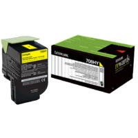 Lexmark 708HYE YELLOW HIGH YIELD CORPORATE TONER CARTRIDGE 3K, CS310/CS410/CS510