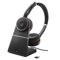 Jabra Evolve 75 UC Stereo ANC Bluetooth Headset (inc Charging Stand)