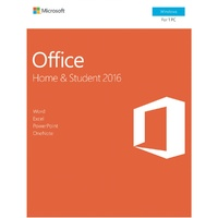 Microsoft Office Home and Student 2016 Win English APAC DM Medialess P2 - 1 PC (79G-04751)