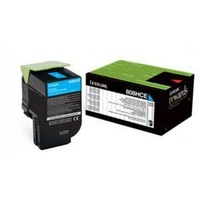 Lexmark 808HCE CYAN HIGH YIELD CORPORATE TONER CARTRIDGE 3K, CX410/CX510