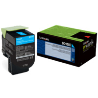 Lexmark 808SCE CYAN STANADRD YIELD TONER CARTRIDGE CORPORATE CARTRIDGE, 2K,CX310/410/510