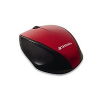 Verbatim MultiTrac Red Mouse Blue LED, Wireless Optical
