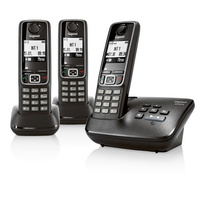 Siemens Gigaset A420A TRIO Cordless Analog Phone with 3 Handsets and Answering Machine