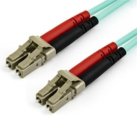 StarTech 15m OM3 LC to LC Multimode Duplex Fiber Optic Patch Cable