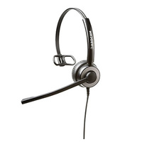 ADDCOM ADD50 MON NC high-quality monaural wired headset with wideband HD sound