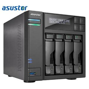 ASUSTOR AS7004T-i3 4 Bay NAS Intel Core i3 Dual Core 3.5GHz 2GB DDR3 2xGbE HDMI S/PDIF