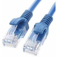 Astrotek CAT5e Cable 1m - Blue Color Premium RJ45 Ethernet Network LAN UTP Patch Cord 26AWG