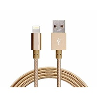 Astrotek 1m USB Lightning Data Sync Charger Gold Color Cable for iPhone 7S 7 Plus 6S 6 Plus 5 5S iPad Air Mini iPod