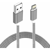 Astrotek 1m USB Lightning Data Sync Charger Grey White Color Cable for iPhone 7S 7 Plus 6S 6 Plus 5 5S iPad Air Mini iPod ~CBAT-USB-IP5