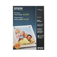 Epson PREMIUM GLOSSY PHOTO PAPER A3, QUANTITY 20 SHEETS