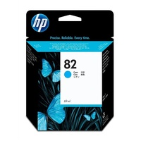 Hewlett Packard 82 CYAN INK CARTRIDGE C4911A FOR DJ 500, 800, 1000