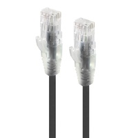 Alogic 0.3m Alpha Series Ultra Slim CAT6 Network Cable - Black
