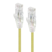 Alogic 0.5m Alpha Series Ultra Slim CAT6 Network Cable - Yellow