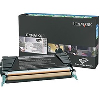 Lexmark C734A1KG BLACK PREBATE TONER YIELD 8000 PAGES FOR C734, C736
