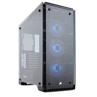 Corsair Crystal 570X RGB Mirror Tempered Glass Mid-Tower ATX Case - Black