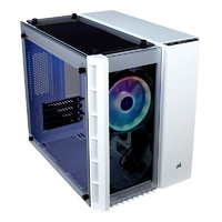 Corsair Crystal 280X RGB Tempered Glass Micro-ATX Case - White