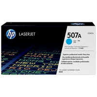HP 507A Cyan LaserJet Toner Cartridge (CE401A)