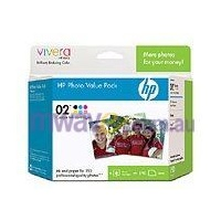 "HP 02 Photo Value Pack, 4"" x 6"", 120 Sheets (CG849AA)"