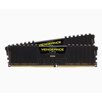 Corsair Vengeance LPX 32GB (2x16GB) DDR4, 3200MHz 32GB 2 x 288 DIMM, Unbuffered, 16-18-18-36, Vengeance LPX Black Heat spreader, 1.35V, Supports AMD