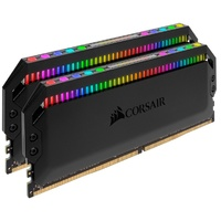 Corsair Dominator Platinum RGB 16GB (2x8GB) DDR4 3200MHz CL16 DIMM Unbuffered 16-18-18-36 XMP 2.0 Black Heatspreader RGB LED 1.35V Desktop PC Gaming M