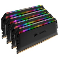 Corsair Dominator Platinum RGB 32GB (4x8GB) DDR4 3000MHz CL15 DIMM Unbuffered 15-17-17-35 XMP 2.0 Black Heatspreaders 1.35V Desktop PC Gaming Memory