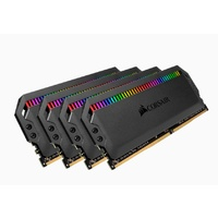 Corsair Dominator Platinum RGB 64GB (4x16GB) DDR4 3466MHz C16 DIMM Unbuffered 16-18-18-36 XMP 2.0 Black Heatspreaders 1.35V Desktop PC Gaming Memory
