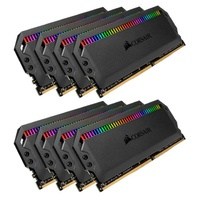 Corsair Dominator Platinum RGB 64GB (8x8GB) DDR4 3200MHz CL16 DIMM Unbuffered 16-18-18-36 XMP 2.0 Black Heatspreaders 1.35V Desktop PC Gaming Memory