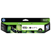 HP 970XL High Yield Black Original Ink Cartridge, up to 9200 pages (CN625AA)