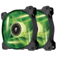 Corsair Air Series SP120 LED 120mm High Static Pressure Fan Green - Twin Pack CO-9050032-WW