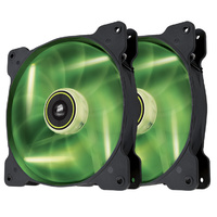 Corsair Air Series SP140 Green LED 140mm High Static Pressure Fan - Twin Pack CO-9050037-WW