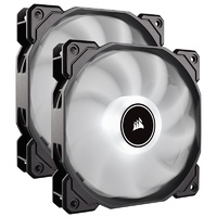 Corsair Air Series AF140 LED Low Noise 140mm Fan - White - 2 Pack