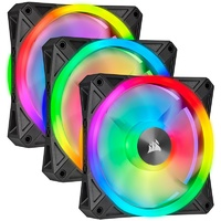 Corsair iCUE QL120 RGB 120mm PWM Fan - Three Pack with Lighting Node CORE