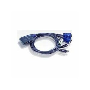 ATEN CS62US 2 Port USB VGA/Audio Cable KVM Switch - 0.9m