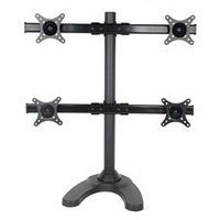 "SPEED CURVE-Q Quad Monitor Desk Stand for 13"" to 27"" Monitors"