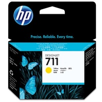 Hewlett Packard 711 YELLOW INK CARTRIDGE 29-ML FOR DESIGNJET T120, T520