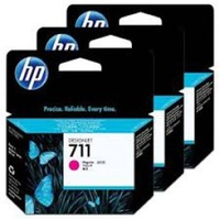Hewlett Packard 711 MAGENTA INK CARTRIDGE 3-PACK 29-ML FOR DESIGNJET T120, T520